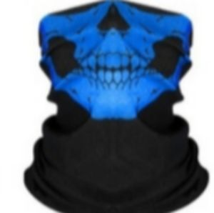 Skeleton Face Mask Black Blue One Size Fits Most